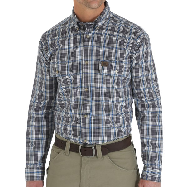 Wrangler Foreman Plaid Work Shirt - Button Front, Long Sleeve (For Men)