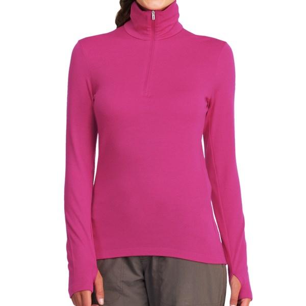Icebreaker Bodyfit 260 Tech Base Layer Top - UPF 30  Merino Wool, Midweight, Zip Neck, Long Sleeve (For Women)