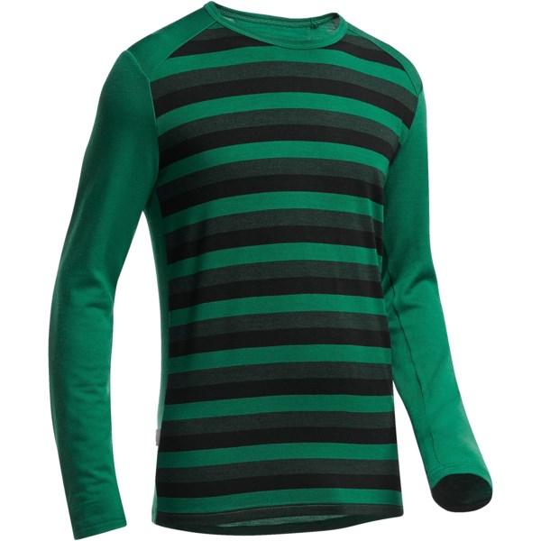 Icebreaker Bodyfit 260 Tech Stripe Base Layer Top - Upf 30 , Midweight, Merino Wool, Long Sleeve (for Men)