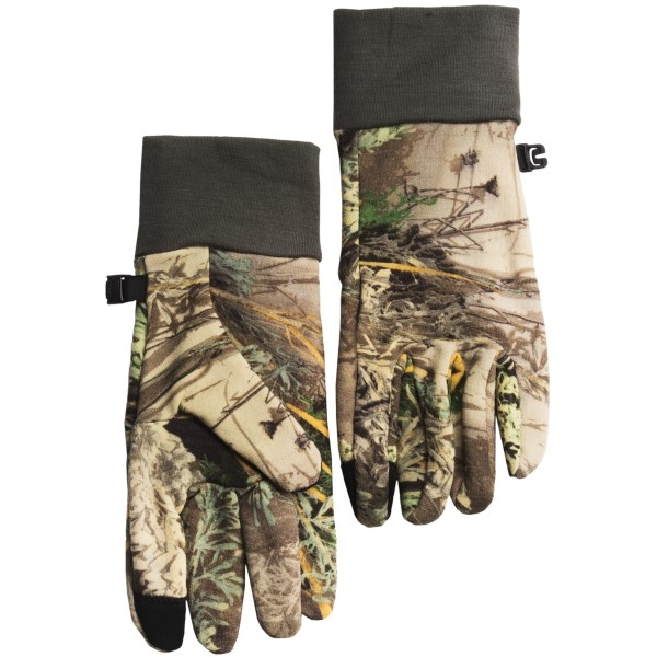 Discontinued . Made of soft, stretchy, breathable RealFleece merino wool, Icebreakerand#39;s Sierra gloves also feature touch-screen technology in the thumb and fingertips. Available Colors: REAL TREE MAX/CARGO, REAL TREE XTRA/CARGO. Sizes: XS, S, M, L, XL.
