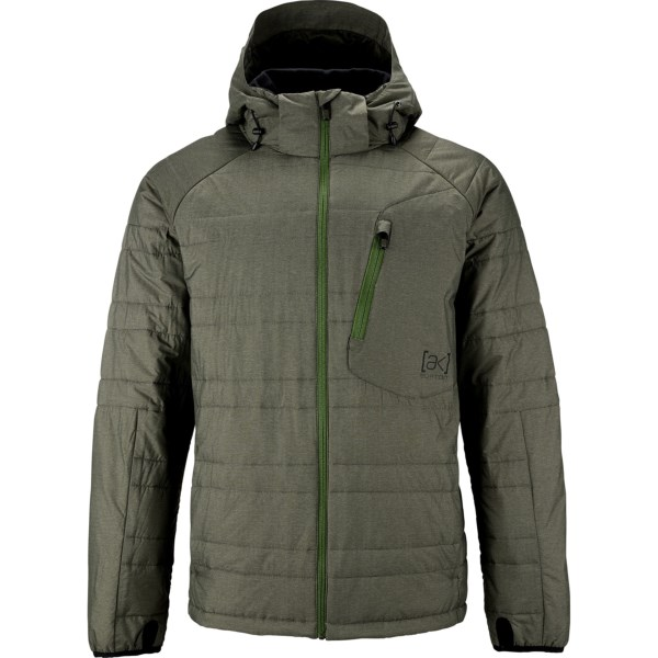 CLOSEOUTS . True to its name, Burtonand#39;s AK MT Insulator jacket is a top-rated expert at keeping you warm. Inside the durable, water-resistant shell, 80g PrimaLoftand#174; Silver Hi-Loft insulation gets to work providing the highest amount of thermal efficiency without adding an ounce of bulk. Available Colors: LION, RESIN, TRUE BLACK. Sizes: L, M, S, XL, 2XL, XS.