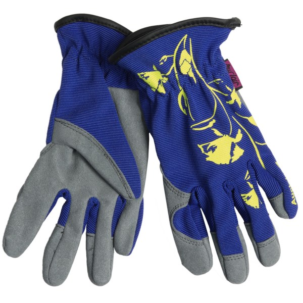 CLOSEOUTS . Make some garden magic happen this season with the help of Auclairand#39;s Plant Manager garden gloves. Made of blended, flexible, abrasion-resistant and chemical-resistant fabric, with added stretch, these gloves provide total protection and comfort. Available Colors: BLACK/YELLOW, ROYAL /YELLOW. Sizes: S, M, L.