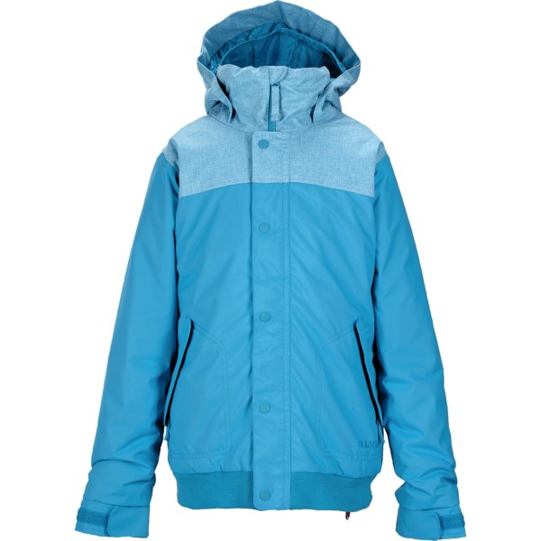 CLOSEOUTS . A cute combination of solid and heathered fabric, along with Dryride Durashell weather protection, makes Burtonand#39;s Fusion jacket a great choice for fashion-conscious rippers. Available Colors: ANTIDOTE, SORCERER, MARILYN. Sizes: S, M, L, XL.