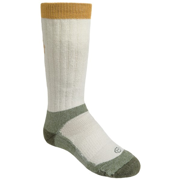 CLOSEOUTS . Show your kid the importance of good socks by having them sport these LaCrosse Silencer socks. Made of supersoft, blended fabric that includes itch-free merino wool, these socks are highly durable and help regulate temperature, wick moisture and resist odor. Available Colors: GREEN. Sizes: M, L.