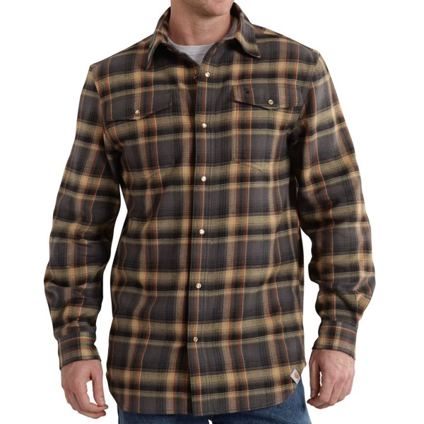 Carhartt Trumbull Flannel Shirt - Long Sleeve (For Big and Tall Men)