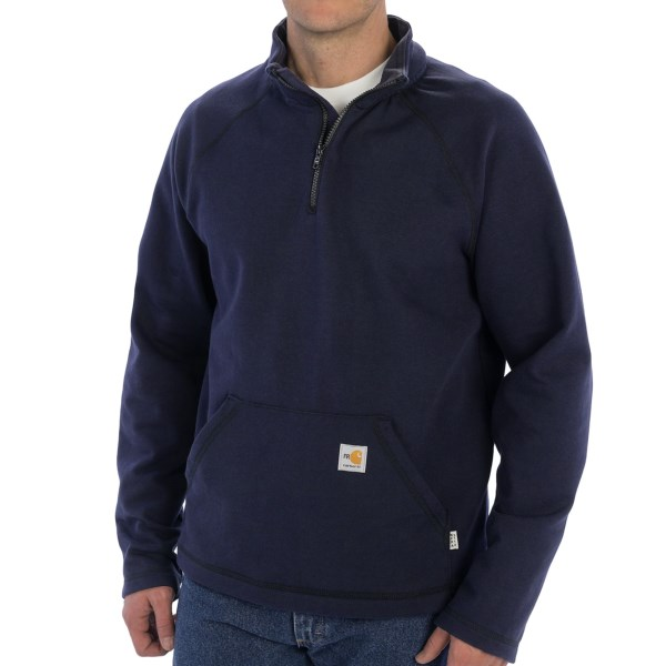 Carhartt Flame-Resistant Force Fleece Zip Neck Pullover - Rugged Flex, Long Sleeve (For Big and Tall Men)