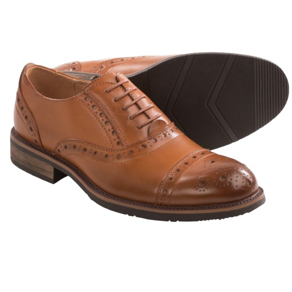 CLOSEOUTS . Leave it to this edgy brand to take all the stuffiness out of a classic brogued cap toe. Steve Maddenand#39;s M-Ziggy oxford shoes redefine dapper for the modern man. Youand#39;ll love the burnished colorations and exaggerated punch holes. Available Colors: TAN. Sizes: 7, 7.5, 8, 8.5, 9, 9.5, 10, 10.5, 11, 11.5, 12, 13.