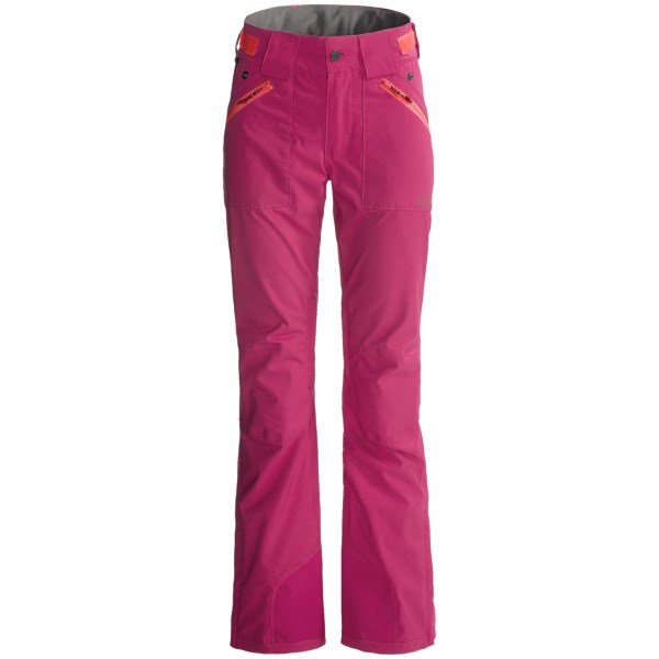 CLOSEOUTS . Super cute and waterproof, Flylowand#39;s Chione ski pants fit like a dream and make you a real stand-out on the slopes. (Time to start perfecting those moves... reviews rave about the view from the rear!) The slim-cut legs are reminiscent of yoga apparel, and the waterproof protection is seam sealed and second to none. Available Colors: POPPY, DENIM, BEET. Sizes: XS, S, M, L, XL.