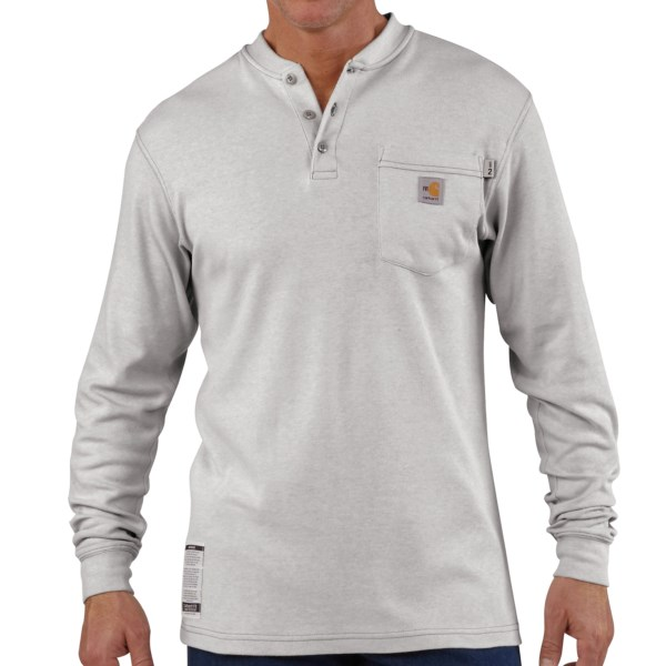 Carhartt Flame-Resistant Henley Shirt - Long Sleeve (For Men)