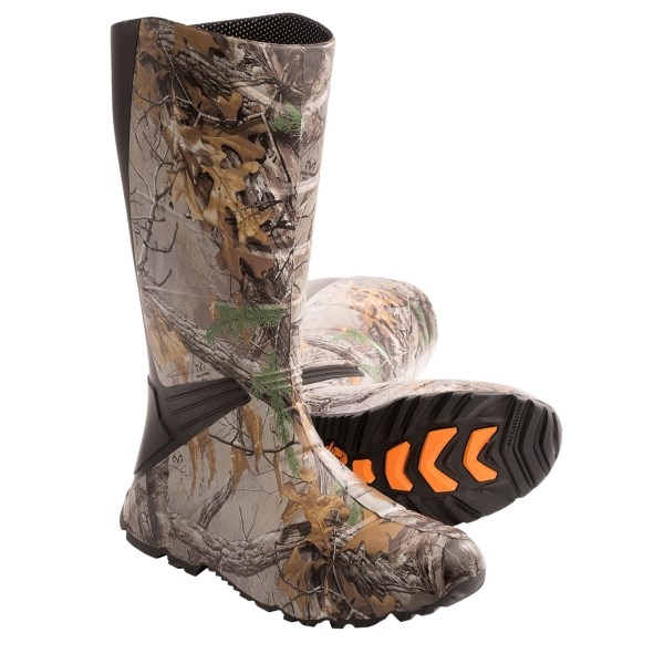 CLOSEOUTS . Rocky Game Changer outdoor boots ensure your feet stay warm and dry. The waterproof upper and reflective, insulated lining provide reliable comfort for tracking game and stealth stalking through muddy terrain. Available Colors: REALTREE XTRA. Sizes: 7, 8, 9, 10, 11, 12, 13.