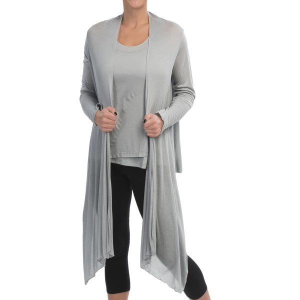Cosabella Mimi Long Cover-Up - Sheer Micromodal(R), Long Sleeve (For Women)