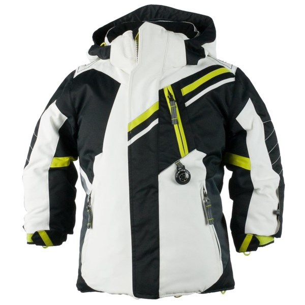 CLOSEOUTS . Moms love Obermeyerand#39;s Fusion ski jacket for the extra season of wear built into its I-Grow system -- not to mention the peace of mind that comes from the jacketand#39;s watertight warmth. Your little speed demon will love the Fusionand#39;s stand-out design, cool color scheme and real working compass! Available Colors: BLACK, ORANGE, LAVA, BLUE. Sizes: 2, 3, 4, 5, 6, 7, 8.
