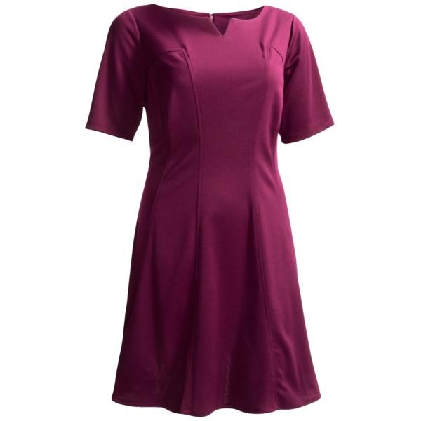 London Times Stretch Knit Dress - Short Sleeve (For Plus Size Women)