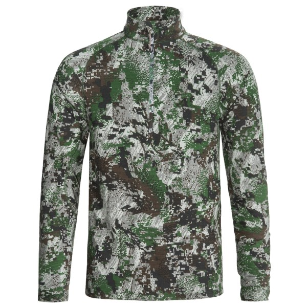 Sitka Core 1 Base Layer Top - Merino Wool, Zip Neck, Long Sleeve (for Men)