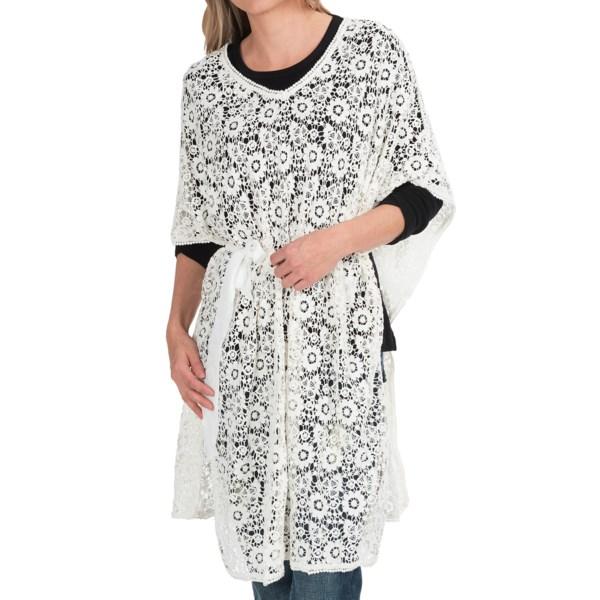 Rancho Estancia Vanilla Crochet Tunic Shirt - Elbow Sleeve (For Women)