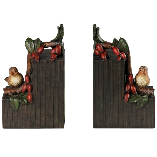 Sterling Industries Birds On A Berry Branch Bookends - Set Of 2