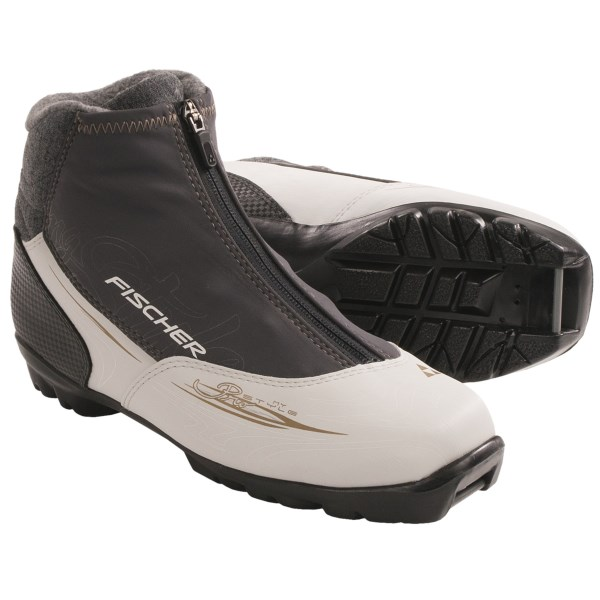 CLOSEOUTS . An excellent choice for the developing classic skier, Fischer XC Pro My Style cross-country ski boots feature a molded heel cup, lace-up convenience and a warm fleece lining. Available Colors: SEE PHOTO. Sizes: 38, 39, 40, 41, 42, 43.