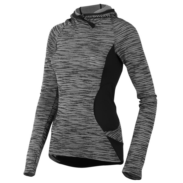 CLOSEOUTS . A performance pullover with all the goods, Pearl Izumiand#39;s Flash hoodie is the wicking, fast-drying, active-ready essential of your dreams. From the Transfer Dry technology to the cuff mitts to the articulated side panels, this baby has it going on! Available Colors: BLACK. Sizes: M, S.