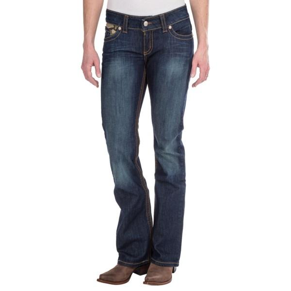 Cruel Girl Camryn Camo Trim Jeans - Slim Fit, Super Bootcut (For Women)