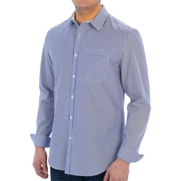 Elie Tahari Steve Cotton Stripe Shirt - Long Sleeve (For Men)