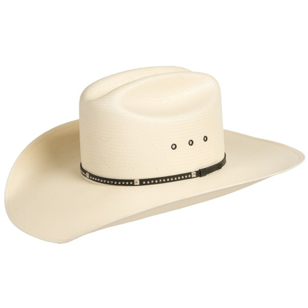 George Strait Collection By Resistol Daytona Cowboy Hat - Shantung Straw, Cattleman Crown (for Men)
