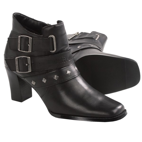 Harley-Davidson Bridgit Dress Demi Motorcycle Boots - Leather, 6? (For Women)