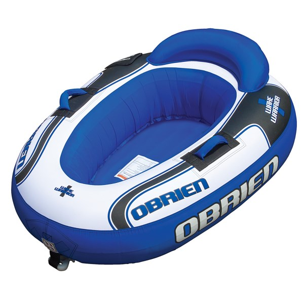 CLOSEOUTS . With a built-in back rest and a durable 420 denier nylon exterior, Oand#39;Brienand#39;s Wake Warrior towable tube is ready for battle on smooth lakes and in choppy ocean swells. Available Colors: SEE PHOTO.