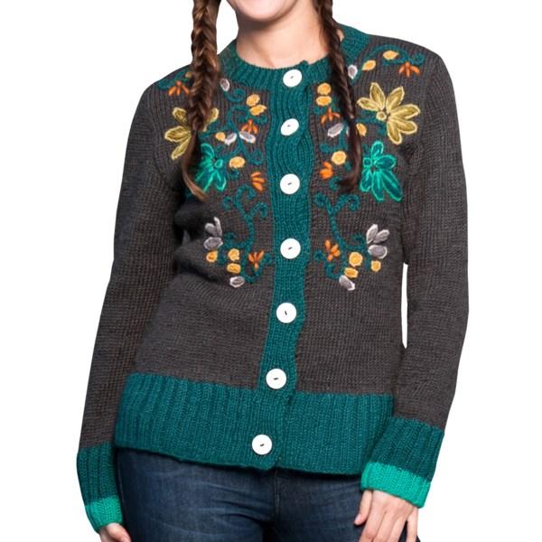 Icelandic Design Newari Chandani Cardigan Sweater - Wool (For Women)