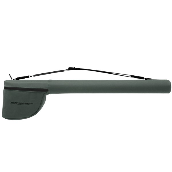 CLOSEOUTS . Ross Reelsand#39; Worldwide double rod case keeps your prized rods and reels safe in industrial-grade tubing, anti-abrasion nylon and high-density foam padding for protection. Available Colors: OLIVE.