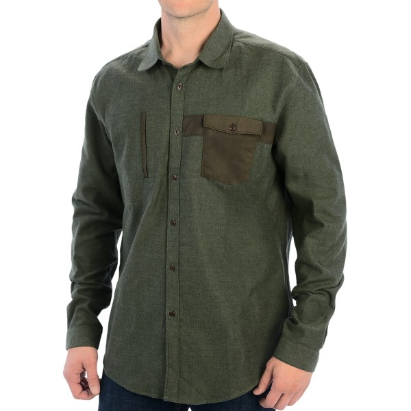 Barbour Gowling Cotton Shirt - Button Front, Two Pocket, Long Sleeve (for Men)