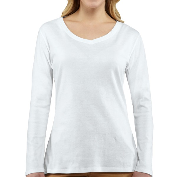 Carhartt Calumet T-Shirt - V-Neck, Long Sleeve (For Women)