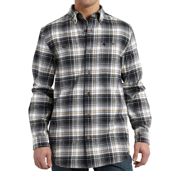 Carhartt Trumbull Flannel Shirt - Button-Down Collar, Long Sleeve (For Men)