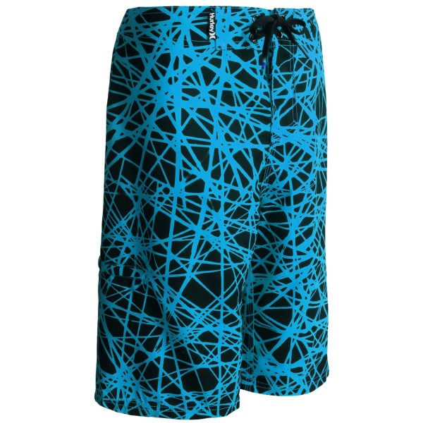 CLOSEOUTS . With a bold pattern and soft feel, Hurleyand#39;s Force Core boardshorts make looking awesome and staying comfortable super easy. Available Colors: BLUE LAGOON, TOTAL ORANGE.