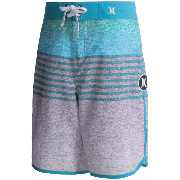 CLOSEOUTS . Make sure your little risk-taker gets serious air doing belly flops when he sports these soft Hurley Phantom Flight boardshorts. Quick-drying brushed fabric has awesome four-way stretch that makes doing epic moves a piece of cake! Available Colors: BLUE LAGOON, DARING RED.