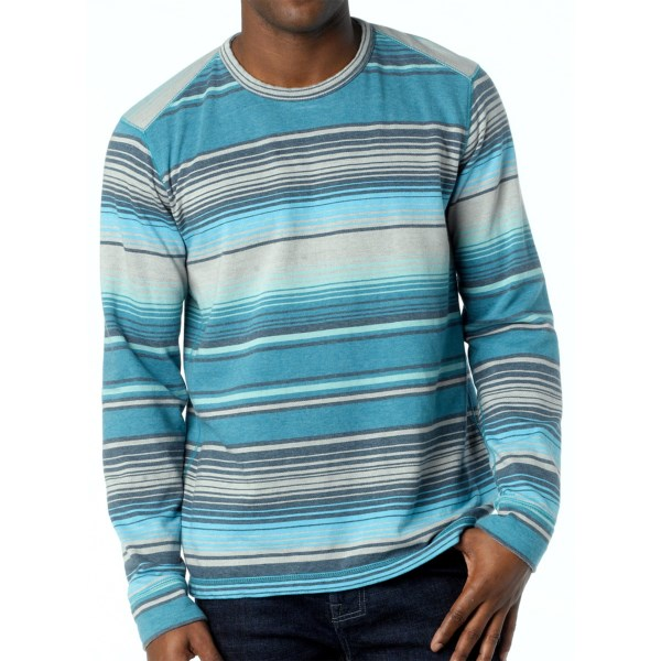 CLOSEOUTS . Softness like youand#39;ve never experienced before! prAnaand#39;s Tollak shirt features a supersoft knit of organic cotton and brushed, fleecy polyester for a next-to-skin comfort thatand#39;s unmatched by any other. The retro-inspired stripes and rich colors look good with everything from slacks to shorts. Available Colors: BLUE YONDER, CHARCOAL. Sizes: S, M, L, XL, 2XL.