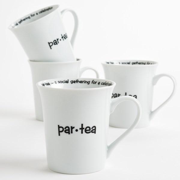 R2 Zrike Brands Definition Tea Mugs - Porcelain, Set Of 4
