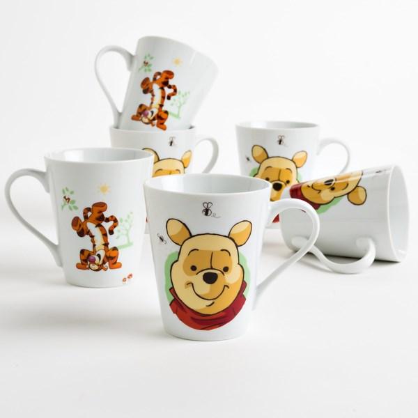 Disney Character Coffee/tea Mugs - Porcelain, Set Of 6