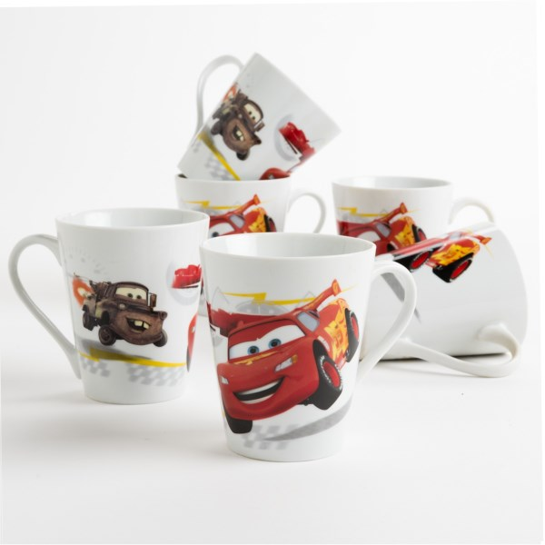 Overstock . Members of your favorite animated franchise come out to caper atop these Disney Character coffee/tea mugs! Available Colors: POOH, CARS.