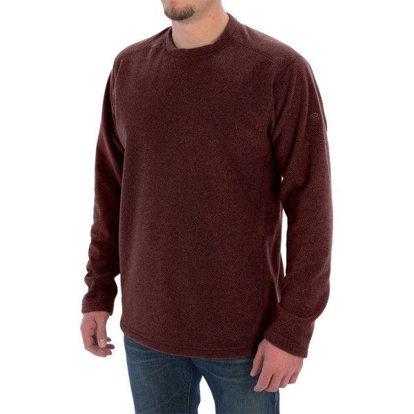 Mountain Hardwear Toasty Twill Fleece Pullover - UPF 50, Crew Neck (For Men)