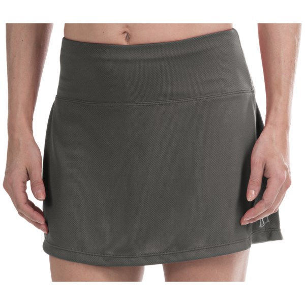 CLOSEOUTS . Take on your favorite workout in the flattering comfort of Skirt Sports running skirt. Designed with a wide elastic waistband that smooths your tummy and a media pocket for blasting that andquot;power songandquot; when necessary. Available Colors: BLACK, CRIMSON/BLACK, PINK CRUSH/BLUSH, PRETTY IN PURPLE, SHADOW/BLACK. Sizes: XS, S, M, L, XL, 2XL.