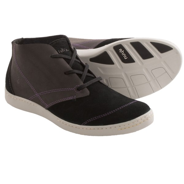 CLOSEOUTS . Ahnuand#39;s Pier 3 shoes combine comfort and style effortlessly. Crafted of genuine leather and suede, the chukka-inspired design gets a fresh spin from the contrasting top-stitch detail. And, thanks to the dual-density insole, you can rock your new kicks all day. Available Colors: BLACK, COCOA, PEWTER. Sizes: 5, 5.5, 6, 6.5, 7, 7.5, 8, 8.5, 9, 9.5, 10, 10.5, 11.