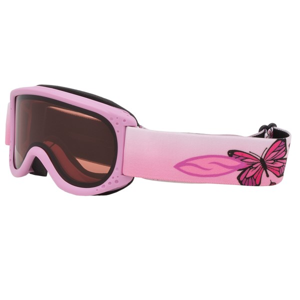 CLOSEOUTS . Protect your little oneand#39;s eyes from harsh UV rays and mountain winds with Smith Optics Sun Kid goggles. Available Colors: PINK FLUTTERBY/RC36.