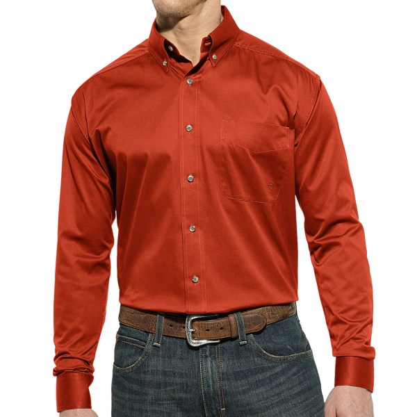 Ariat Solid Twill Shirt - Button Front, Long Sleeve (For Men)