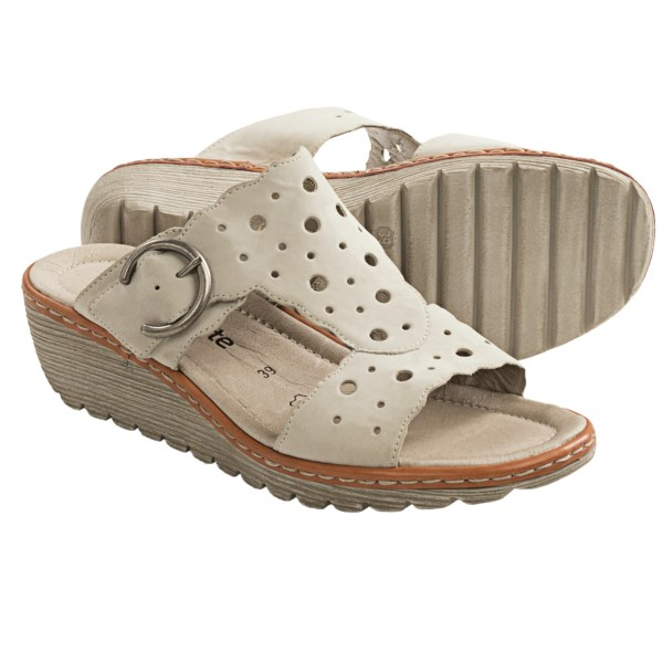 CLOSEOUTS . Effervescent in bubbly cutouts, Remonte Dorndorfand#39;s Gretchen 54 sandals are light as clouds underfoot and edged in lighthearted scallops. Soft, super-cute and oh so comfortable. Available Colors: GREY, BEIGE. Sizes: 36, 37, 38, 39, 40, 41, 42.