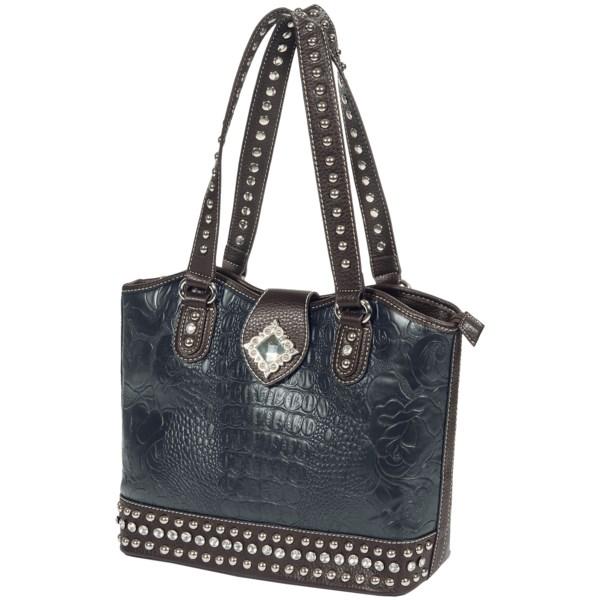 Blazin Roxx Floral Embossed Crystal Concho Handbag (for Women)