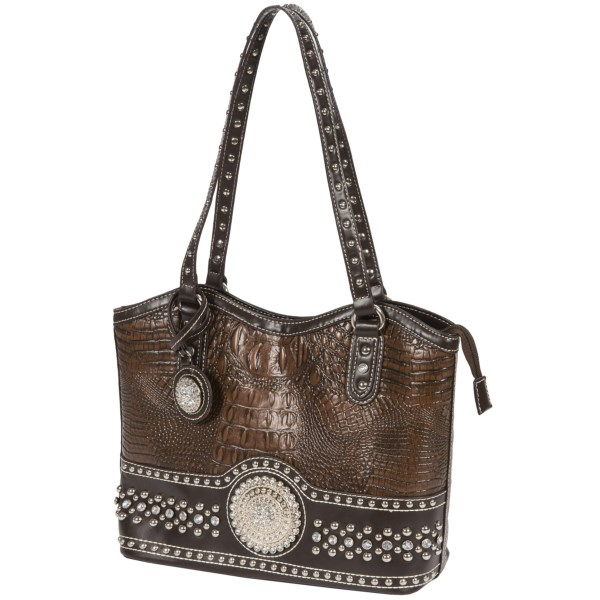 Blazin Roxx Croco-embossed Concho Handbag (for Women)