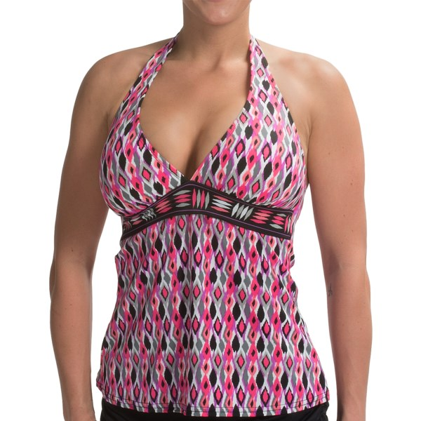 24th and Ocean Borderline Banded Tankini Halter Top (For Women)