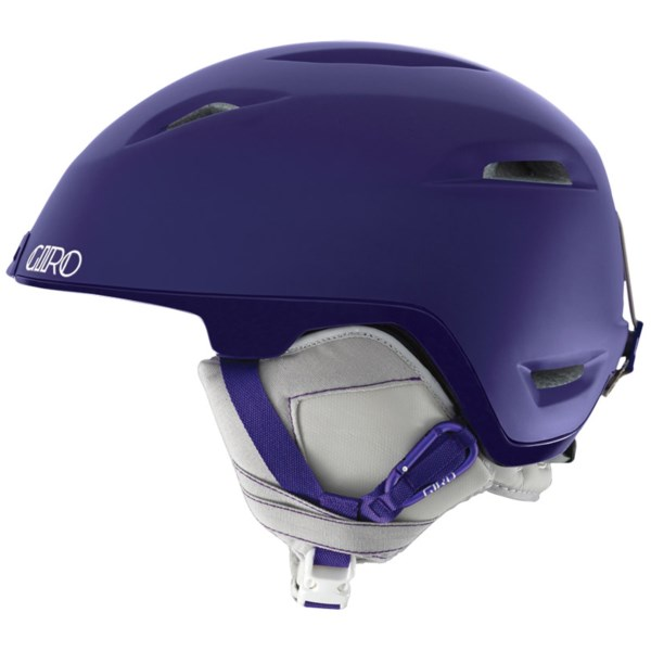 CLOSEOUTS . Top-of-the line features including an integrated GoProand#174; camera mount and extra-lightweight construction make Giroand#39;s Flare helmet a great choice for women who donand#39;t compromise on their head protection. Available Colors: WHITE GEO, MATTE PURPLE, MATTE BLACK GEO. Sizes: M, S.
