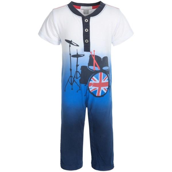 Petit Lem London Star Romper - Short Sleeve (for Infants)