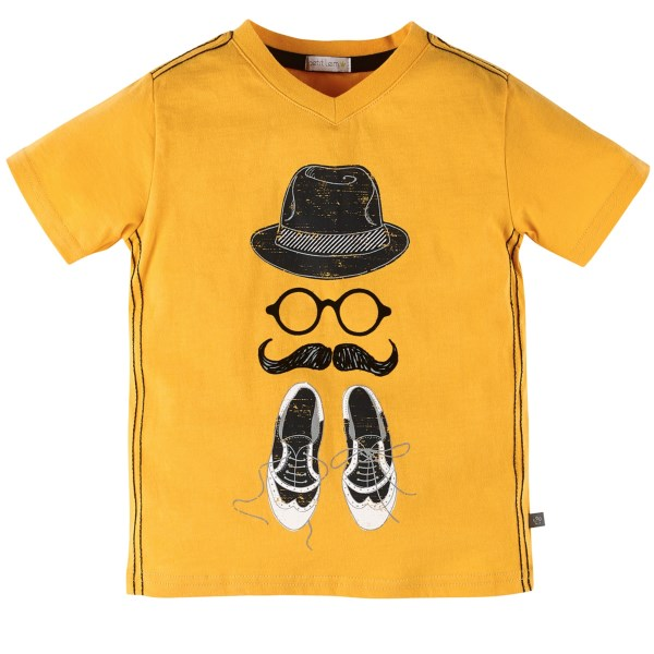 Petit Lem V-neck T-shirt - Short Sleeve (for Little Boys)
